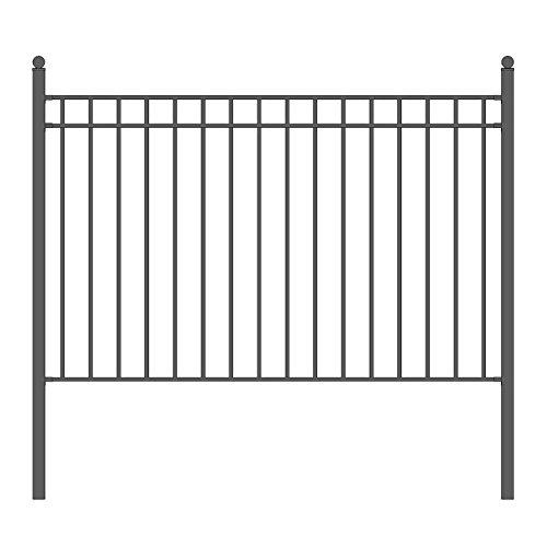 ALEKO Madrid Style Iron Wrought Steel Fence 8' X 5' Ornamental Fence
