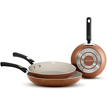 Tramontina 80143/592DS Select Ceramic-Reinforced Nonstick Fry Pans, 3 Pack, Copper, Made in USA