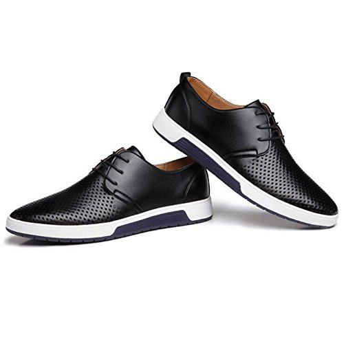 Business Uomo Scarpe Sera Da Da Dress Fori Da Sera Black Estate HGDR Stringate Pelle Traspiranti Scarpe In Casual gqwxXRzU