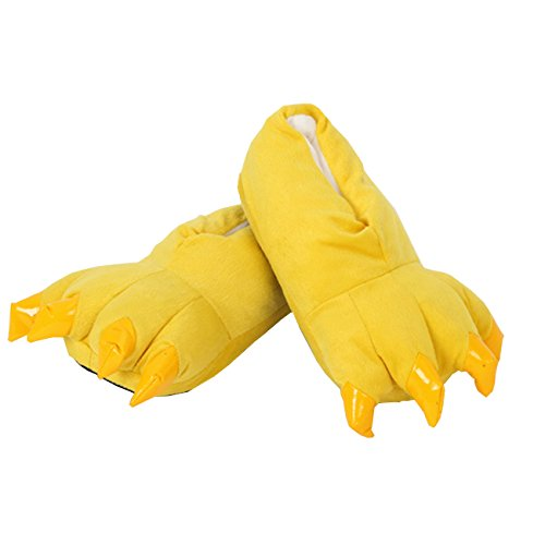 Chicken Feet Slippers (Soffte Cloud Unisex Soft Plush House Slippers Animal Costume Paw Claw Shoes)