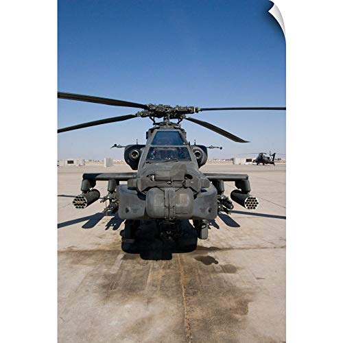 Terry Moore Wall Peel Wall Art Print Entitled an AH64D Apache Longbow Block III Attack Helicopter Sits on The Flight line ()