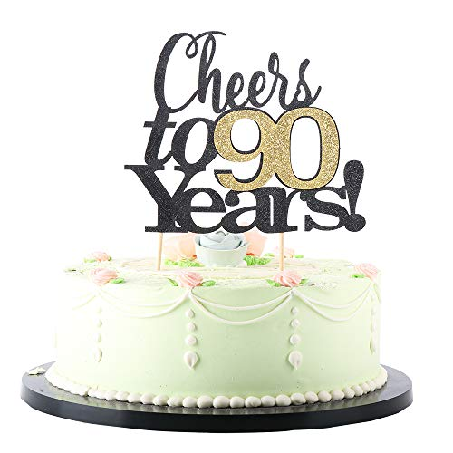 Cheers to 90 Years Cake Topper