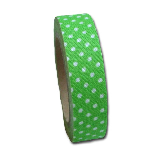 Maya Road FT2511 Candy Dots Fabric Tape for Crafting, Lime Green - Lime Dot Fabric