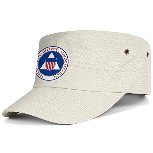 (Federal Civil Defense Administration Boy's Vintage Washed Cotton Patrol Caps Adjustable Flat Top Snapback)