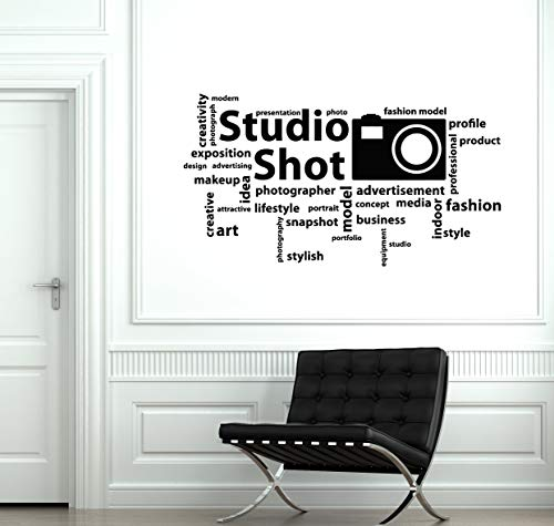 Photo Studio Vinyl Wall Decal Words Cloud Photographer Decor Stickers Mural and Stick Wall Decals