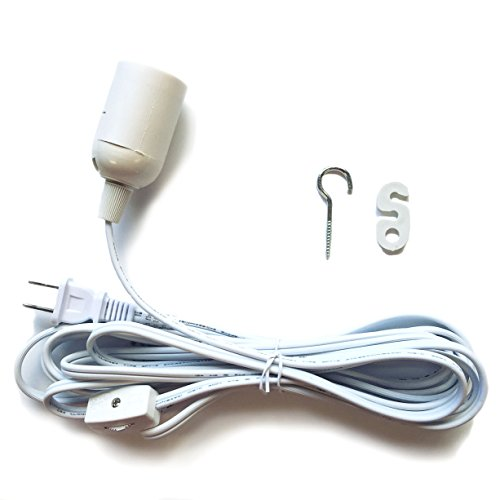 15 Hanging Lantern Cord White with On/Off Switch Whirled Planet Brand