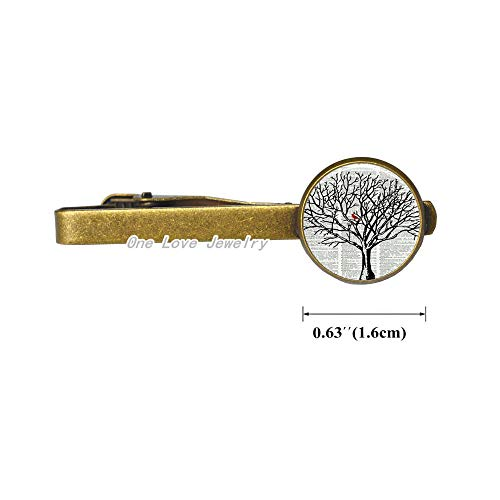 - Fashion Cardinal in Tree Dictionary Art Print Tie Pin Dictionary Glass Concave Round Tie Pin Tie Clip Jewelry,TAP308