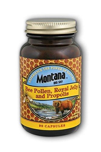 Montana Big Sky, Bee Pollen Royal Jelly and Propolis Capsules, 90 Count (Zi Xiu Tang Bee Pollen Capsules)