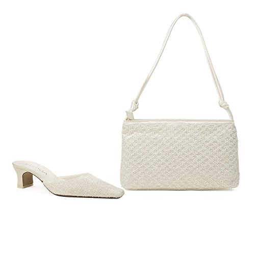 Farfalla Luxury Matching Shoes and Bag Ivory