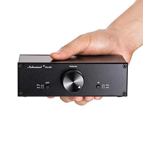 Nobsound Mini Fully-balanced/Single-ended Passive Preamp; Hi-Fi Pre-amplifier; XLR/RCA Volume Controller for Active Monitor Speakers (Rca Preamp)