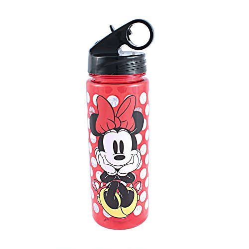 Silver Buffalo MD0764 Disney's Minnie Mouse Polka Dots Tritan Water Bottle, 20 oz, Multicolor ()