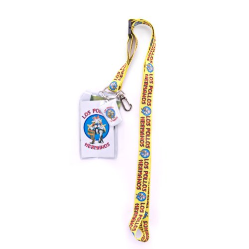 1 X Breaking Bad Los Pollos Hermanos Lanyard and Badge Holder