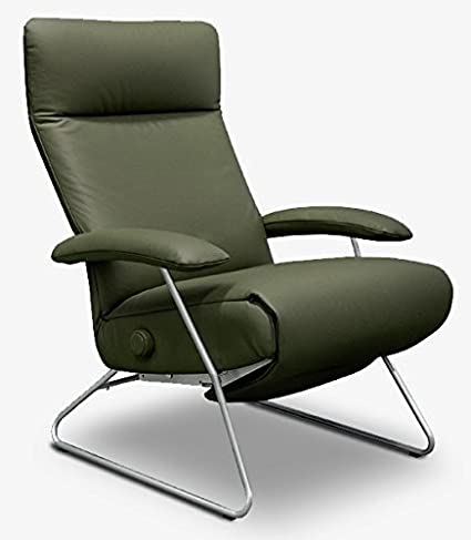 Ordinaire Demi Recliner Chair Green Leather Lafer Recliner Chairs