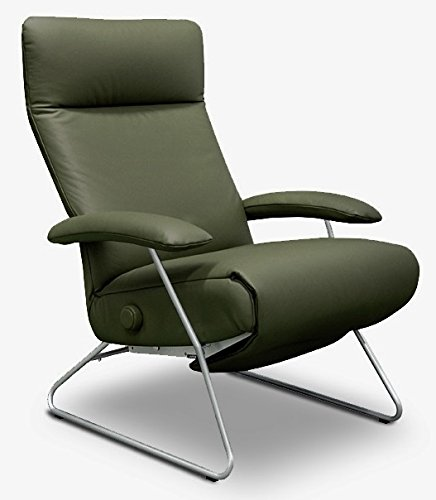 Demi Recliner Chair Green Leather Lafer Recliner Chairs