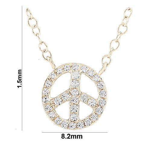 Libertini Colliar argent 925 serti de Diamant en forme de Rond