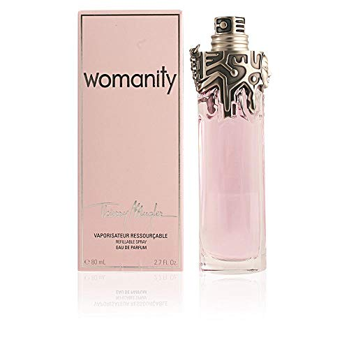 - Womanity by Thierry Mugler for Women, Eau de Parfum Refillable Spray, 2.7 Ounce