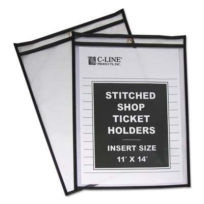 Holders Ticket 11 (Shop Ticket Holders, Stitched, Both Sides Clear, 75