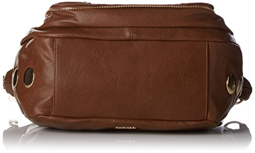 Desigual - Bols_somalia Janis, 6091, U, Mujer, Marrón (Leather Brown), 12x24.5x22 cm (b x h t) Marrón (Leather Brown)