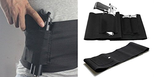 JIYI Slim Wrap Concealed Carry Abdominal Band Gun Holster Belly Band Pistol Holster
