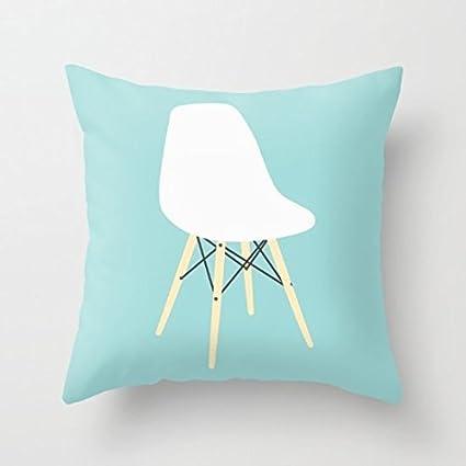 Decorative Pillow Case Eames Chair On Black Cushion Cover 18u0026quot; ...