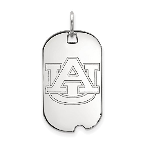 - The Black Bow NCAA Sterling Silver Auburn U Dog Tag Pendant Necklace - 20 Inch