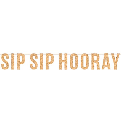Creative Converting 6.3ft Sip Sip Hooray Birthday Party Letter Banner Decoration, -