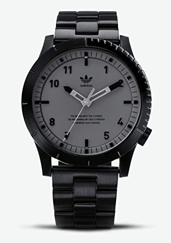 adidas Watches Cypher_M1. Men's 3 Link Solid Stainless Steel Bracelet, 22mm Width (Black/Charcoal. 42 mm). (Watch Adidas Men)