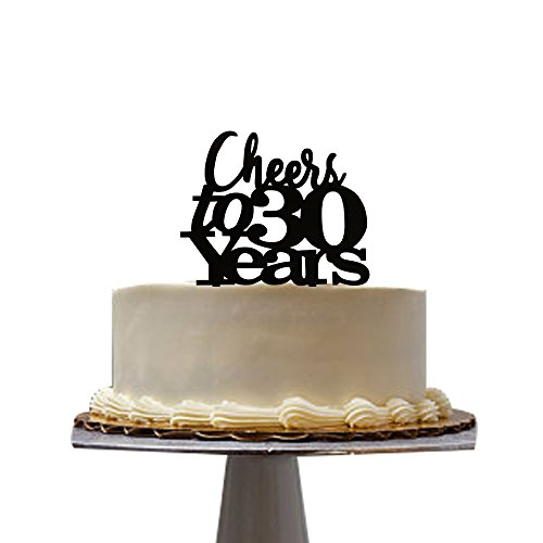 Cheers to 30 years cake topper for 30th birthday party decoration santonilacake topper