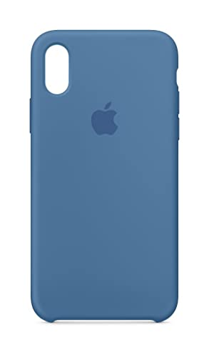 check out 0d3fa 4ede9 Apple Silicone Case (for iPhone X) - Denim Blue