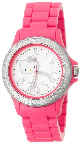Hello Kitty Women's QWL1632DIANFSVPK Kimora Lee Simmons Diamond Bezel Pink Ceramic Watch