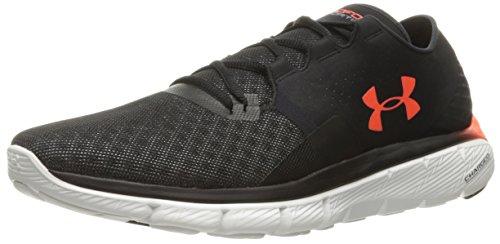 Under Armour Men's Speedform Fortis 2.1 Running Shoe, Black (002)/White, 8.5