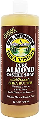 Dr. Woods Shea Vision Pure Almond Castile Soap 32 oz