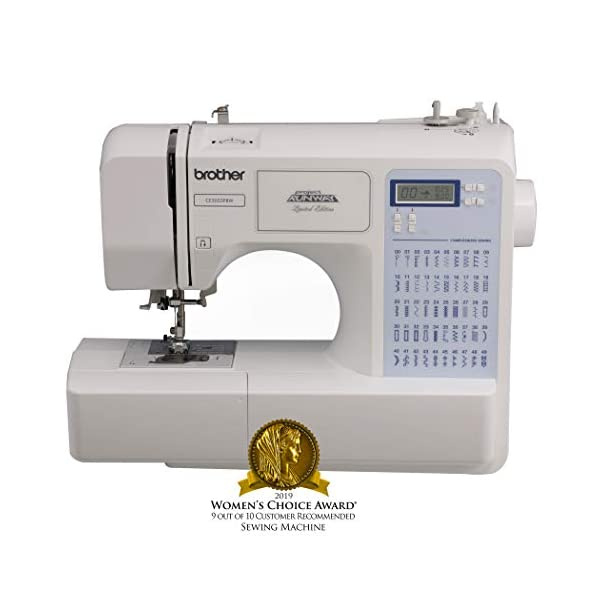Brother Project Runway CS5055PRW Electric Sewing Machine – 50 Built-In Stitches – Automatic Threading
