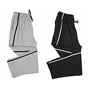 Maxis Greymelange and Charcoal Melange Cotton Track Pants,Pyjamas,Sleepwear,Bottoms-Pack of Two