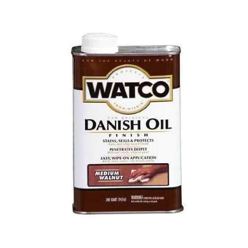 Watco 242223 Danish Oil Wood Finish, Low VOC, Quart, Medium Walnut