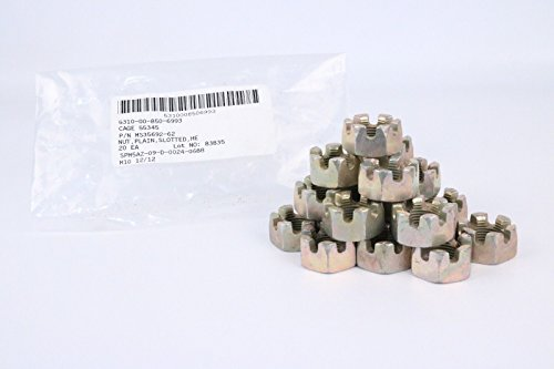 Military Standards Humvee Castle Nut 3/4-16 Slotted Head 3/4'' MS35692-62 Hmmwv M998 1 1/4 Ton 20ea by Military Standards