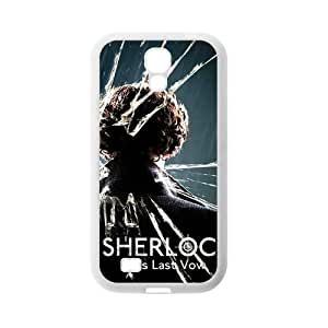 Custom Printed Benedict Cumberbatch as Sherlock Holmes, detective story Sumsang Galaxy S4 I9500 TPU cases, Snap-on Cover