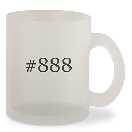 #888 - Hashtag Frosted 10oz Glass Coffee Cup Mug