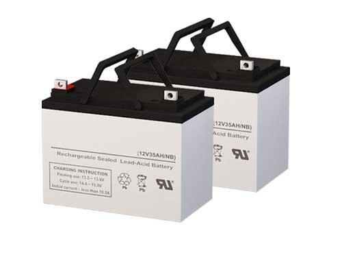 (Genuine SigmasTek 12 Volt 35 AmpH SLA Replacement Batteries - Set of 2)