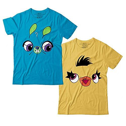 Rabbit And Ducky Toy Funny Halloween Costume For Kids Story Customized Handmade T-Shirt Hoodie/Long Sleeve/Tank Top/Sweatshirt -