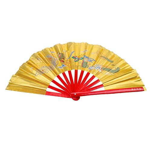 - Aship Dragon Phoenix Bamboo Martial Arts Fan Tai Chi Kung Fu Fan Martial Arts Fighting Fan Karate Fans Chinese Kung Fu Fighting Fans Wushu Fan for Performance Dance Yellow 13.39inches