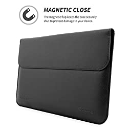 Snugg Leather Sleeve for Microsoft Surface Pro 3 / 4 - Black
