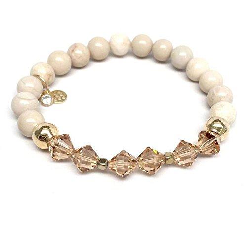 Chloe Sterling Silver Bracelet - Stone Swarovski Crystal