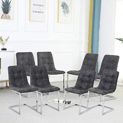 WENYU Dining Chairs Set of 8 Modern Leather Dining Chair Indoor Kitchen Chair
