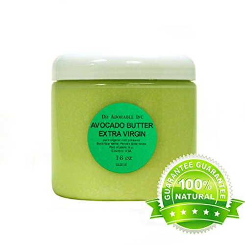 Avocado Butter Extra Virgin Unrefined by Dr.Adorable Pure Raw 16 Oz/ 1 lb