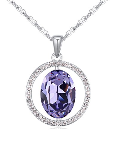 FANSING Jewelry Womens Made with Swarovski Element Crystal Pendant Necklace for Girlfriend