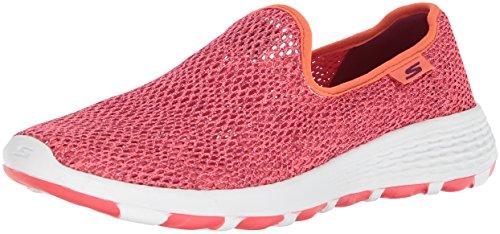 Skechers Womens Go Walk Cool-15650 Sneaker Coral