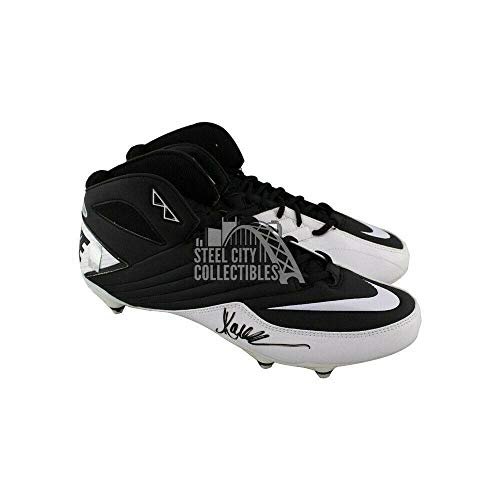 Marcus Allen Autographed Nike Football Cleats - BAS COA (Black/White) - Beckett Authentication - Autographed NFL Cleats (Marcus Allen Autographed Football)