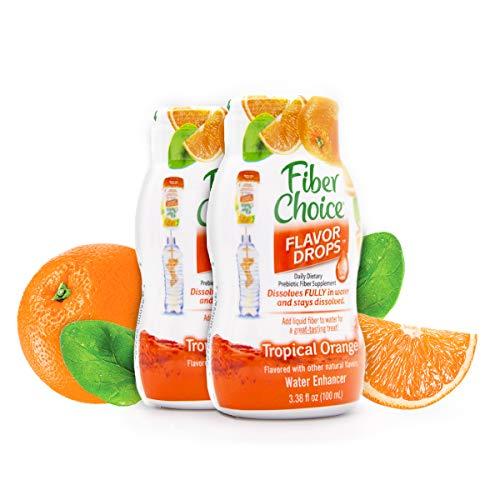 - Fiber Choice Flavor Drops Liquid Prebiotic Fiber Supplement Tropical Orange Flavor 14 Servings (2 Pack)