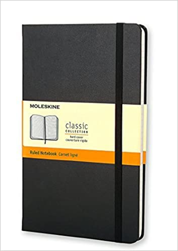 Moleskine Classic Notebook, Large, Ruled, Black, Hard Cover ...